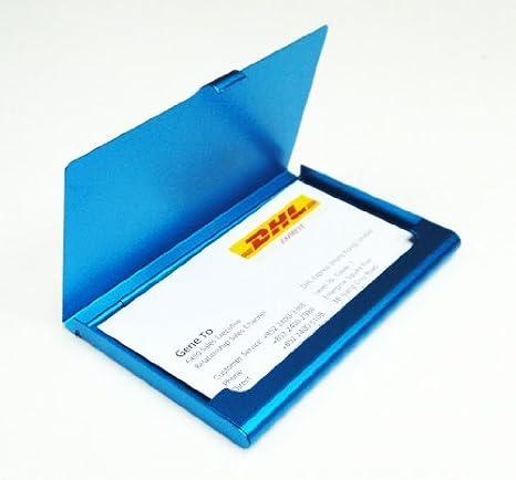Nombre de la empresa titular de la tarjeta Cubierta Case - Blue Color: 0/Plano De Aluminio/Azul, B? roartikel: Amazon.es: Oficina y papelería