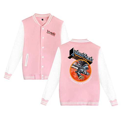 X Q X Baseball Uniform Jacket Sport Coat, Judas Logo Priest Cotton Sweater for Women Men Boy Girls -