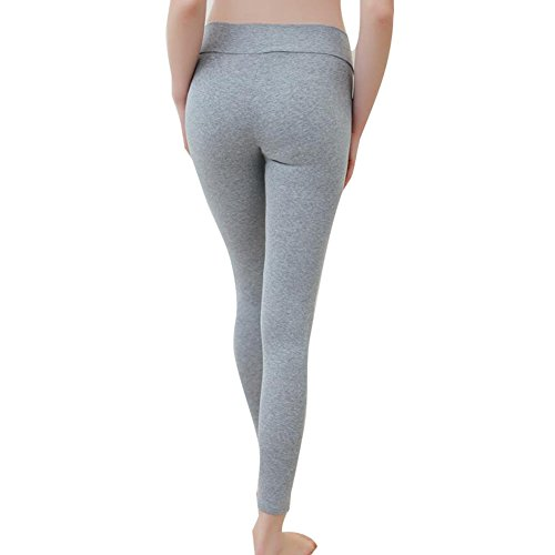 hibote Pantalones de maternidad Pantalones Pantalones de cintura baja Alta elasticidad Gris claro