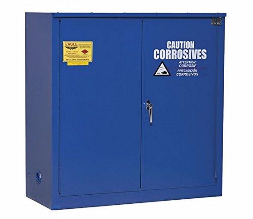 Eagle CRA-70 Acid/Corrosive Safety Cabinet, Self-Closing, 2 Door, 1 Shelf, Under-Counter, 35