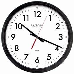 La Crosse Technology 404-2636-INT Commercial Wall Clock, Quartz Movement, Black, 14-In. - Quantity 3
