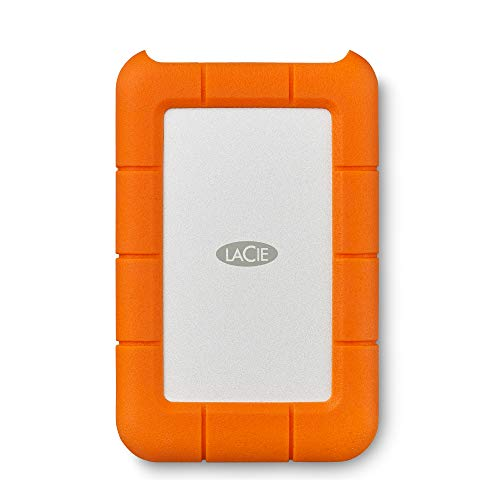 LaCie Rugged Mini, 2 TB, Draagbare Externe Harde Schijf, 2,5″, USB-C, USB 3.0, Voor Mac & PC, 1 maand Adobe CC All Apps, 2 jaar Rescue Services (LAC9000298)