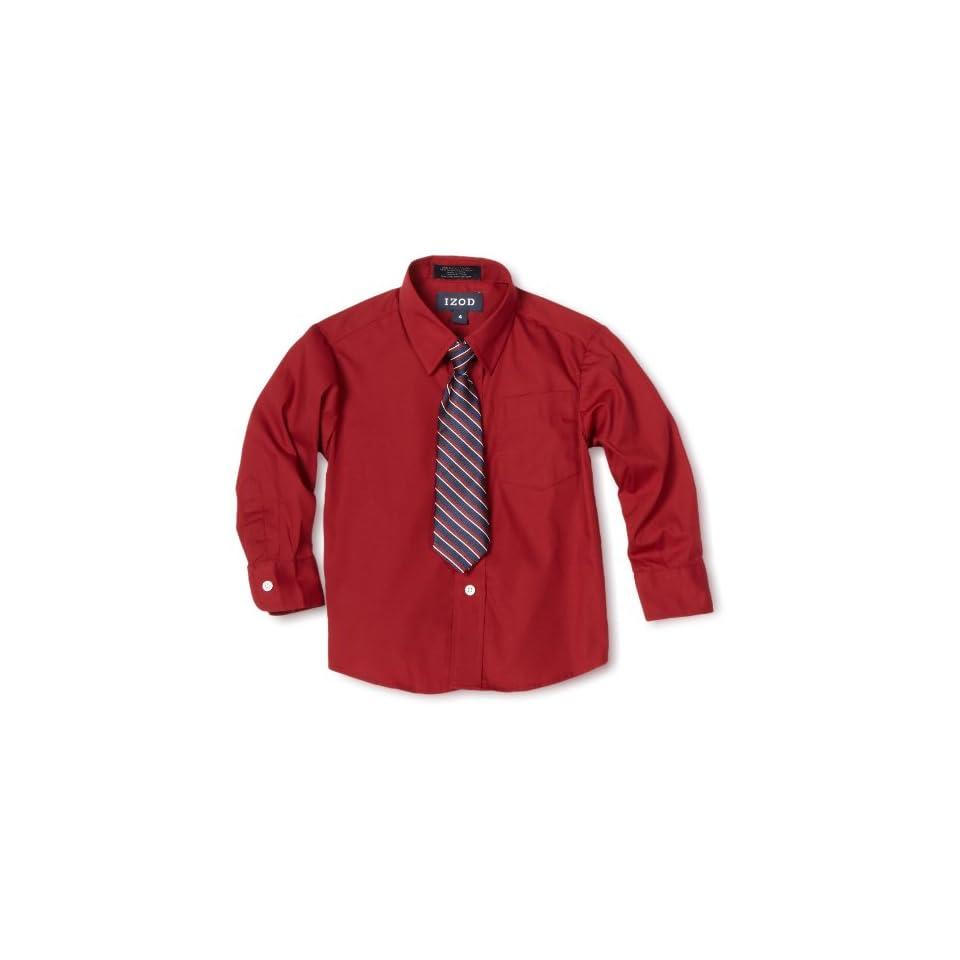 IZOD Kids Little Boys Long Sleeve Shirt and Tie Set