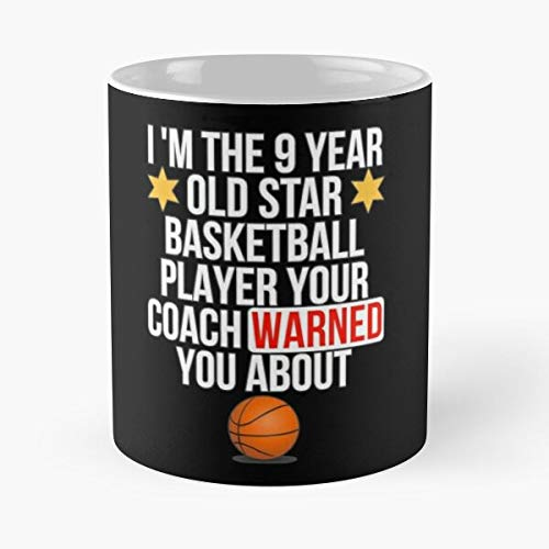9 Year Old Basketball Star Player Classic Mug Coffee Tea - Funny Gifts For Men And Women Gift Cup White 11 Oz The Best Holidays (Best 9th Grade Basketball Player)