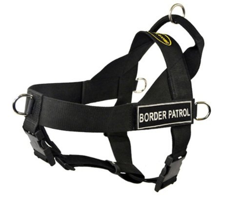Dean-Tyler-DT-Universal-No-Pull-Dog-Harness-with-Velcro-Patches-Black