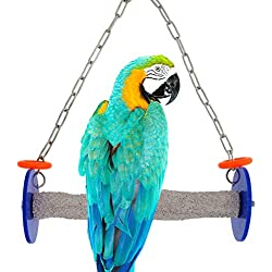 Sweet Feet and Beak Roll Swing and Perch for Birds, Keeps Nails and Beak in Top Condition and Stimulate Leg Muscles - Safe and Non-Toxic, For Cages - Various Colors and Sizes Available