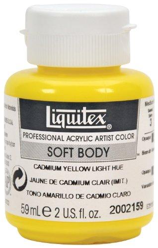 Liquitex Professional Soft Body Acrylic Paint 2-oz jar, Cadmium Yellow Light Hue