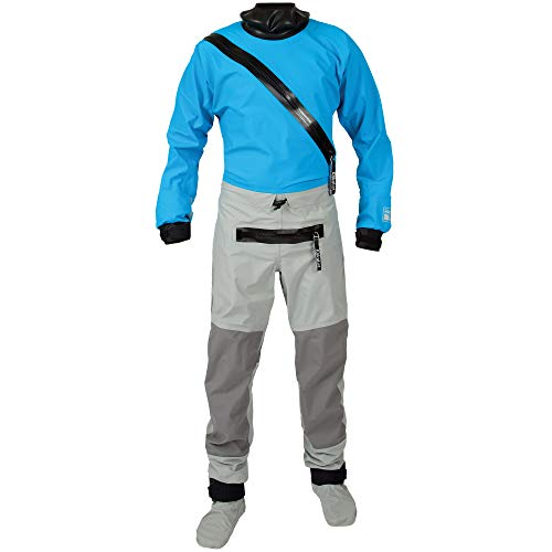 Swift Entry Drysuit w/Zipper-Electric Blue-XL ()
