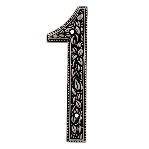 Vicenza Designs NU01 San Michele Venetian Style House Number 1, Antique Nickel