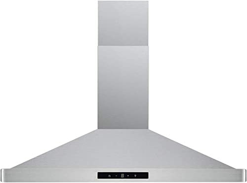 CAVALIERE 30 Inch Range Hood Wall Mount Stainless Steel Kitchen Exhaust Vent With 400 CFM, 3 Speed Fan Touch Sensitive Control Panel LED lights