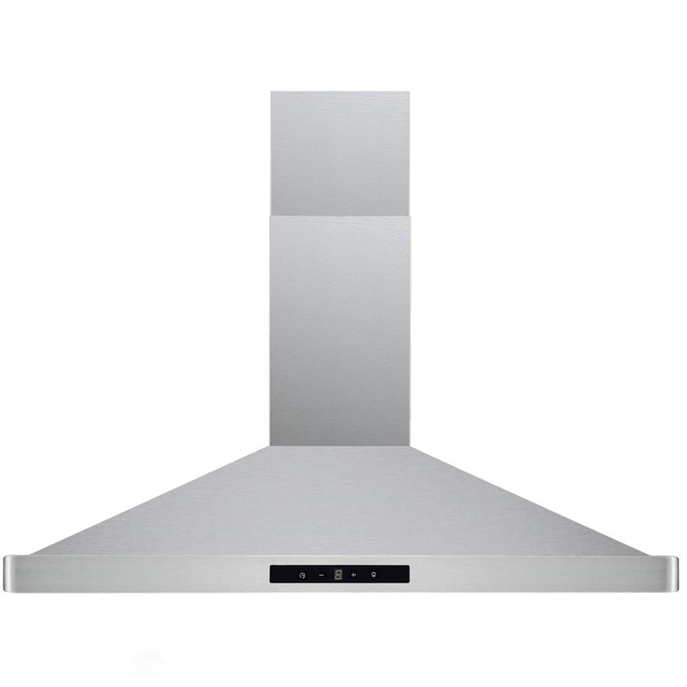 """CAVALIERE 30"""" Inch Range Hood Wall Mount Stainless Steel Kitchen Exhaust Vent With 400 CFM, 3 Speed Fan & Touch Sensitive Control Panel LED lights"""