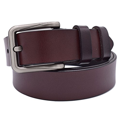 Womens Belts for Jeans, Vonsely Genuine Leather Dress Belt Ladies Belts for Dresses (Coffee (Ladies Leather Jeans)