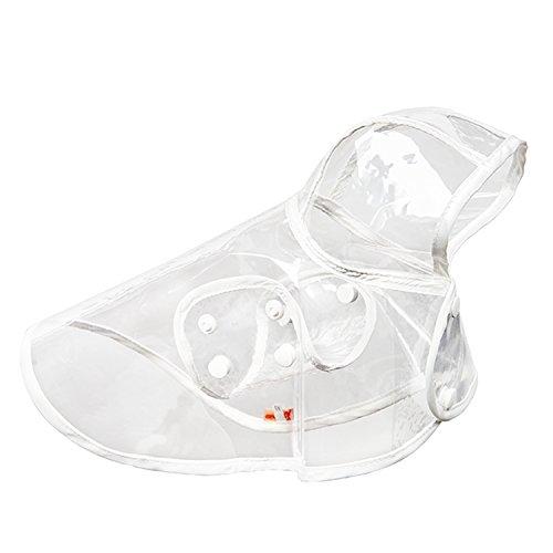 Impermeable gabardina transparente impermeable con capucha Poncho suave ropa para perrito perro mascotas XL