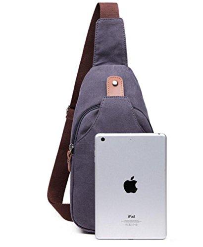 Svago Tela Bag I Messenger Sacchetto Nuovi Grigio Di Uomini Petto Wenl Blu wqC7afxw