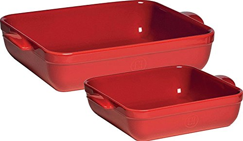 Emile Henry 2 Qt & 4 Qt Baking Dish Set Red 332096/2