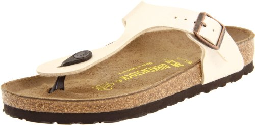 Birkenstock Women's GIzeh Thong Sandal,Graceful Pearl White 38/7-7.5 B(M) US - Sneaker Cup Sole
