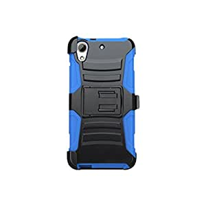 Asmyna Phone Case for HTC Desire 626 - Retail Packaging - Black/Blue