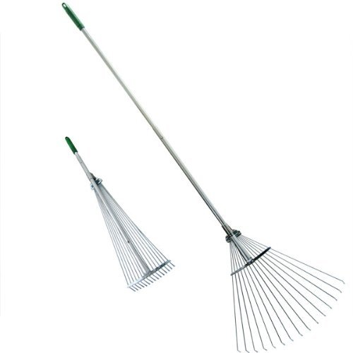 Professional EZ Travel Collection Telescopic Rake Folding Rake Garden Rake Heavy Duty Foldable Rake (Original Version)