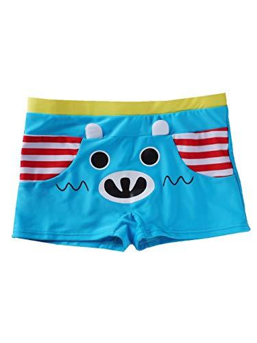 SeaBeauty Kids Boys Swimming Trunks Cute Animal Swim Boxer Shorts Bathing Suit Swimming Underwear Light Blue ()