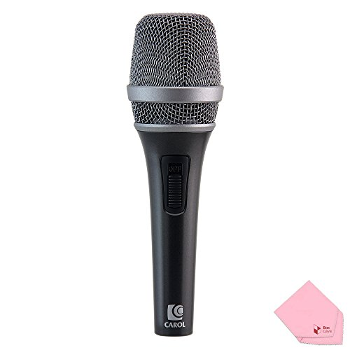 Microphones Microphone Vocal Wired (Professional Wired Vocal Dynamic Handheld Microphone with Patented Active Handling-Noise Cancelling Technology and Slide Potentiometer Switch | by CAROL PS-1 (Black))