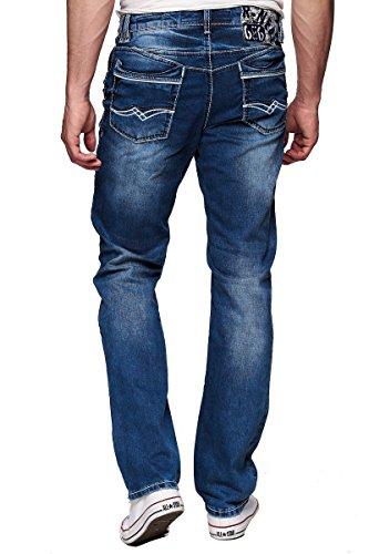 Rusty Neal Dicke Naht Jeans Hose 23-29, Hosengröße:W32/L32