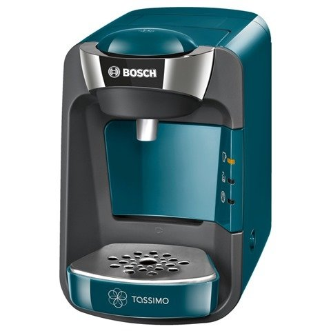 Bosch TAS3205GB Tassimo Suny Coffee Machine 1300 watts Removable 0.8 litre water tank Intellibrew™ System - Patented bar code technology identifies drink selected and adjusts amount of water brewing time and temperature Large variety of high quality hot b