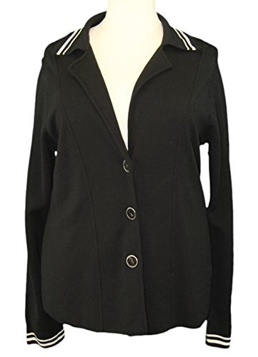 marina-rinaldi-by-maxmara-valtorta-black-3-button-knit-blazer-m