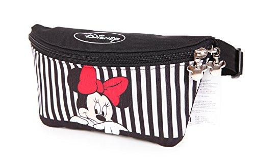 (Disney Mickey Minnie Mouse Zippered Waist Fanny Pack Belly Small Bag (Minnie Stripe))