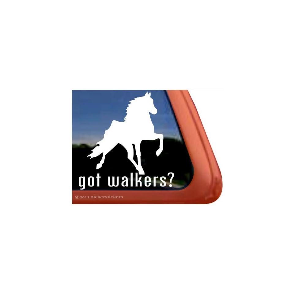 GOT WALKERS? ~ Tennessee Walking Horse Trailer Vinyl Window Decal Sticker