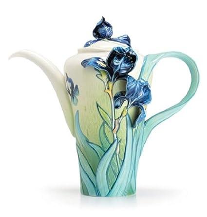 Franz Porcelain Van Gogh Iris flower teapot Franz Fine Porcelain