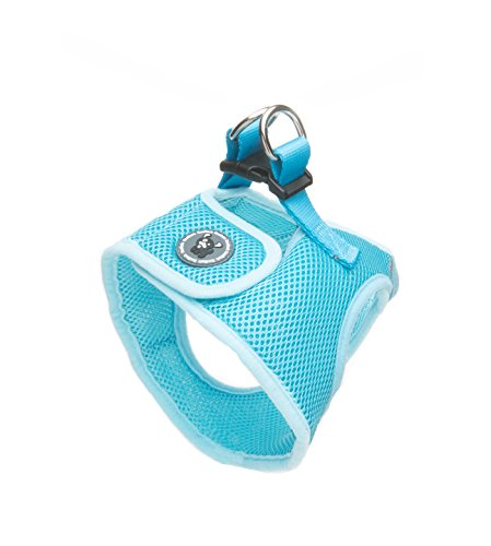 Image of EcoBark Rapid Fastener Super Comfort Fully Adjustable Double Padded Step in Dog Harness (X-Small, Sky Blue)