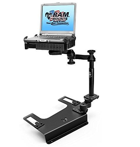 RAM MOUNTS (RAM-VB-193-SW1 No-Drill Laptop Mount for The Chevrolet Silverado 1500/2500/3500, Suburban, Tahoe, Gmc Sierra 1500/2500/3500 ()