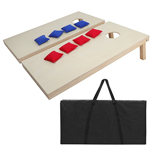 Bean Bag Toss Cornhole Board Game Set Regulation Size Cornhole Boards & Bags Set Playset Backyard Outdoor Portable ()