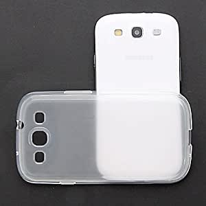 CECT STOCK Caso claro de la piel TPU del gel del caucho + Bling Protector para Samsung Galaxy S3 I9300