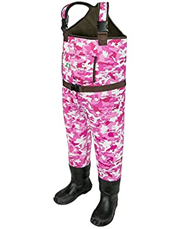 OAKI Children s Neoprene Waterproof Fishing Waders, Pink Camo, 4 5 Little Kid