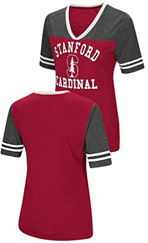 Colosseum Ladies Stanford Cardinal Smaller Fit Whole Package Synthetic V Neck T Shirt ()
