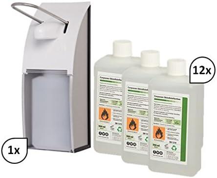 Blanc Hygienic Set Armhebelspender Euro Spender Edelstahl 12