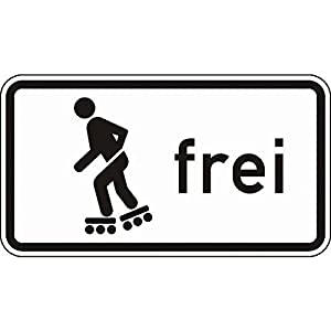 LEMAX® Schild Inline-Skaten und Rollschuhfahren frei Verkehrsz. 1020-13,...
