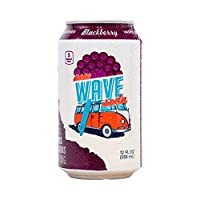 New Wave Soda Natural Soda Canned Fruit Juice - Healthy Soda Blackberry Caffeinated Sparkling Water | Vegan, Keto, Gluten Free, Recycle - 12 Pack