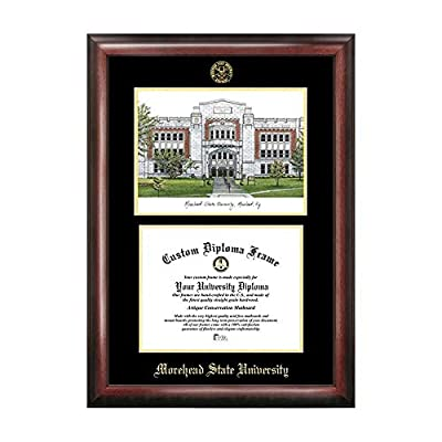 Campus Images Sports Team Logo Design Morehead State University Gold Embossed Diploma Frame with Campus Images Lithograph