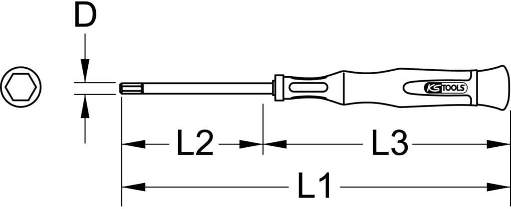 1.5mm KS TOOLS Precision Screwdriver Hex key
