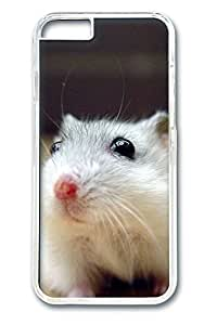 iphone 6 4.7inch Case and Cover Cute Hamster Black Eyes PC case Cover for iphone 6 4.7inch transparent
