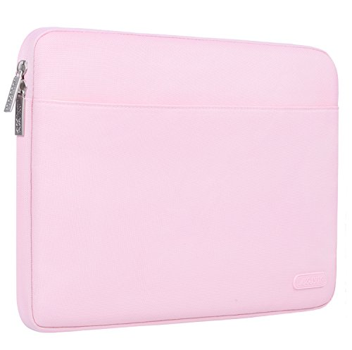 Mosiso Drop-proof Laptop Sleeve for 13-13.3 Inch MacBook Pro, MacBook Air, Notebook Computer with Handy Strap, 360° Protective Shockproof Spill Resistant Chromebook Tablet Bag Case Cover, Pink (Pavilion 13 Case Hp 360)