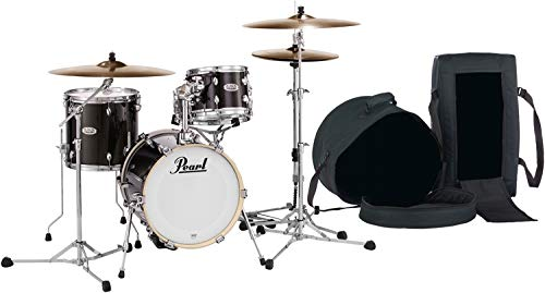 Pearl Midtown Series Shell Pack with Gig Bags - 4-pc - Black Gold Sparkle -
