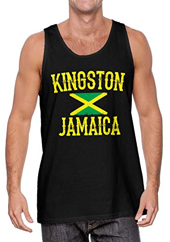 Kingston Jamaica - Jamaican Rasta Men's Tank Top (Black, XXX-Large) (Jamaican Black Rum Cake Recipe From Scratch)