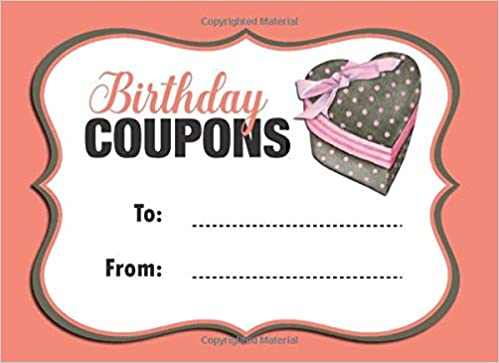 Birthday Coupons: Coupon Book With 20