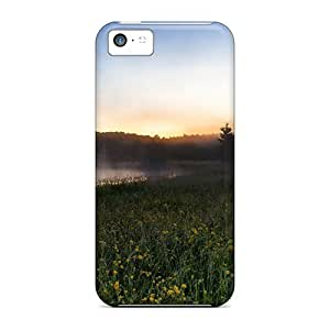 BreakFree Case Cover Iphone 5c Protective Case River Fog Landscape
