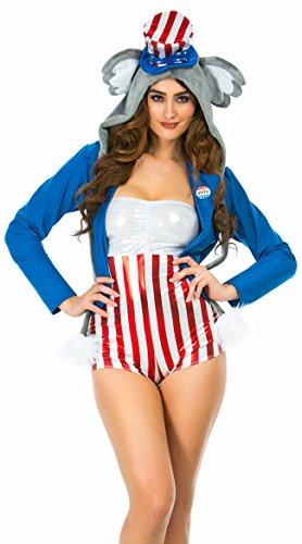 (Yandy Judy Sexy Political Elephant Costume, Sexy Politics)