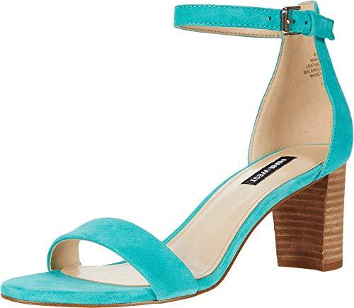 NINE WEST Women's Pruce Ankle Strap Block Heel Sandals Heeled