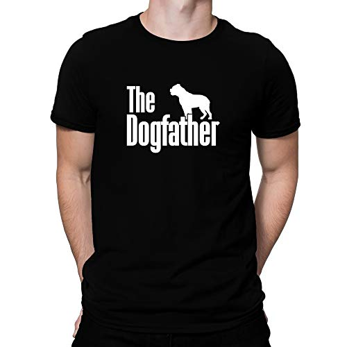 Teeburon The Dogfather Olde English Bulldogge T-Shirt L Black